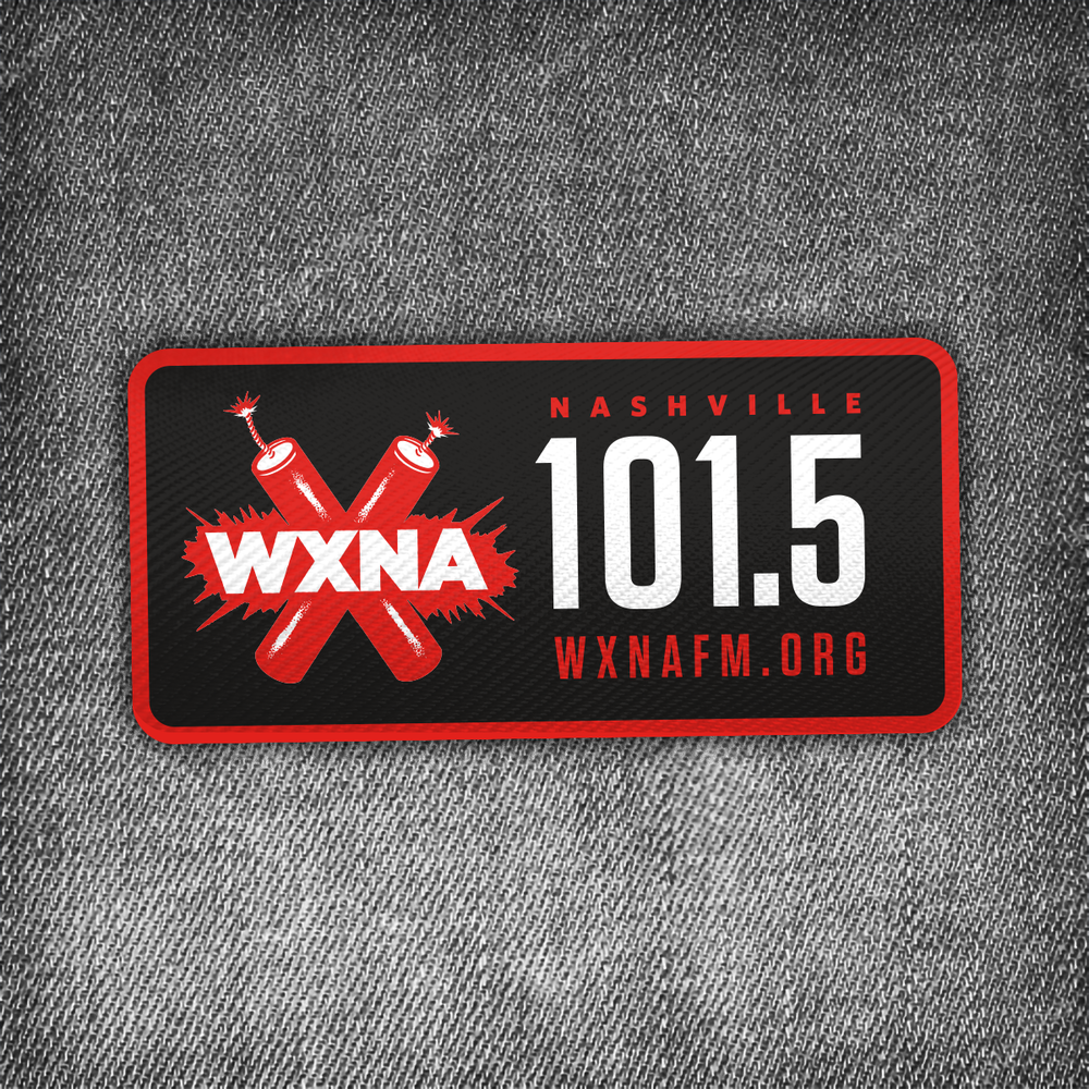 Donations of $60 or more receive sticker and an iron-on WXNA patch - You'll also receive our awesome limited-edition sticker!