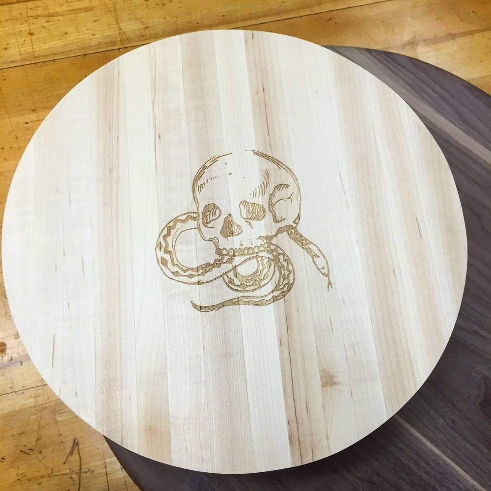 Custom maple skull board