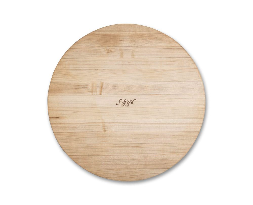 Round Maple Butcher Block
