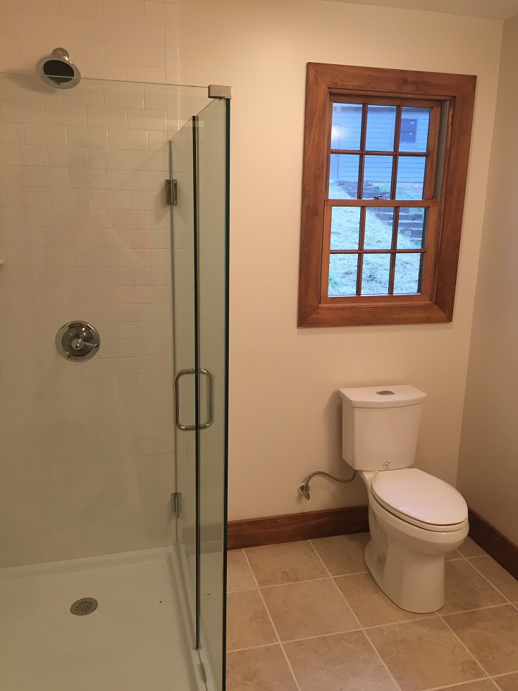 Two new bathrooms will help make living in this cabin a lot nicer