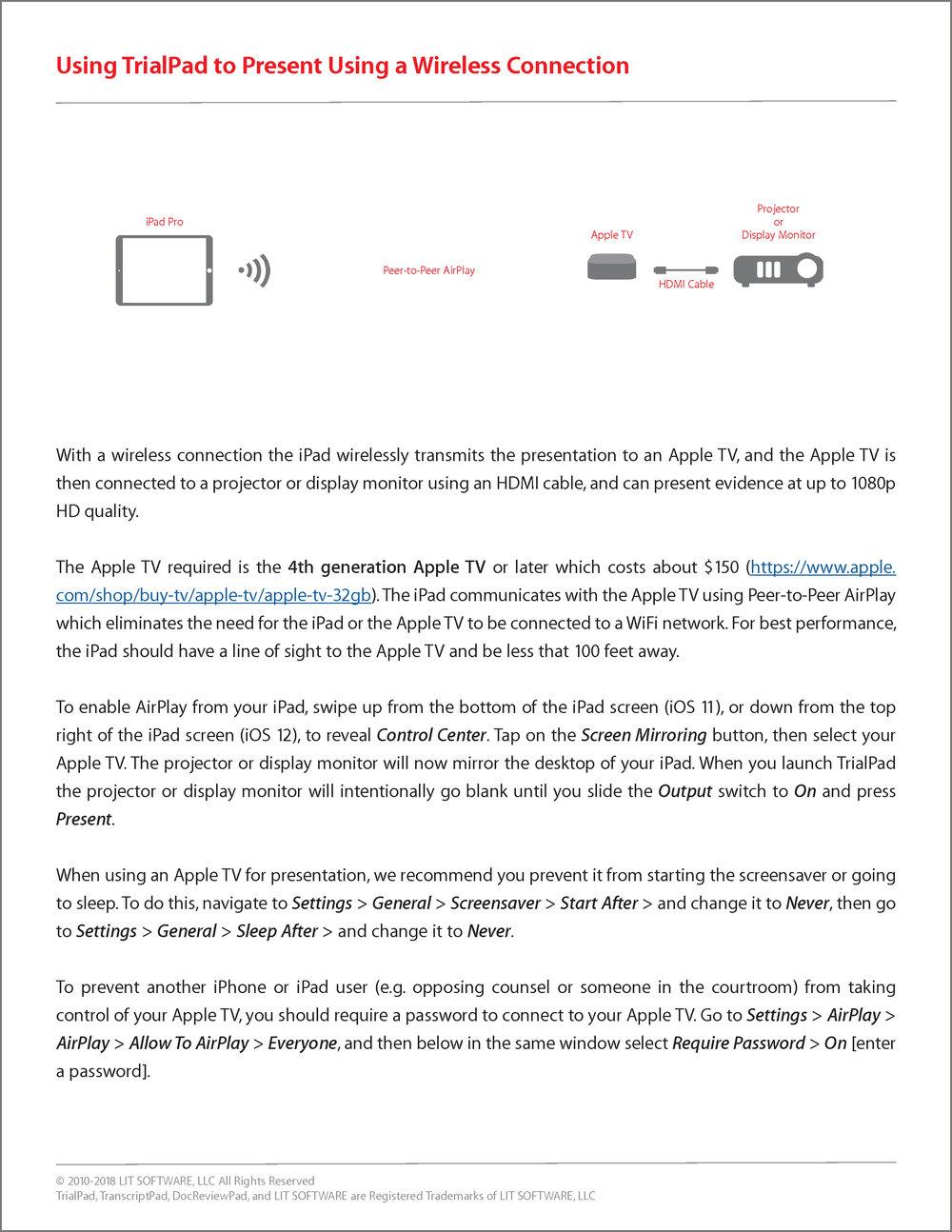 TRIALPAD - WIRELESS CONNECTION
