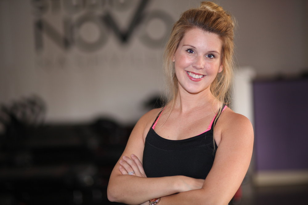 RISE AND SHINE WITH COACH JEN. - 1. What is your favorite thing about Lagree Fitness?My favorite thing about Lagree Fitness is that it never gets old. Every class is different, you can do the moves in all different ways and it feels new and different every day! I love it! 2. You've been consistently teaching at Novo for 5 years- what keeps you coming back for more/keeps you engaged with the Novo community?I love the novo community and the family of friends and clients that we have. Novo seriously cares about its people and remembers the important stuff. I like feeling like I am just hanging out with friends! 3. What is your favorite exercise to teach and why?My favorite exercise to teach changes- but one I really always come back to and enjoy is cobra. I feel like it's challenging, it's hard to get right but when you do, boy do you feel it! 4. Do you have a certain thing that you say in class to clients to keep them motivated during class? If so, what is your