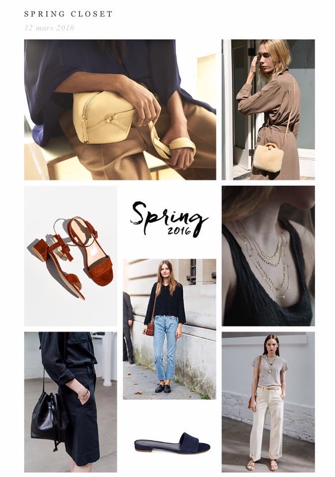 Olivia Thebaut Blog, Spring Closet