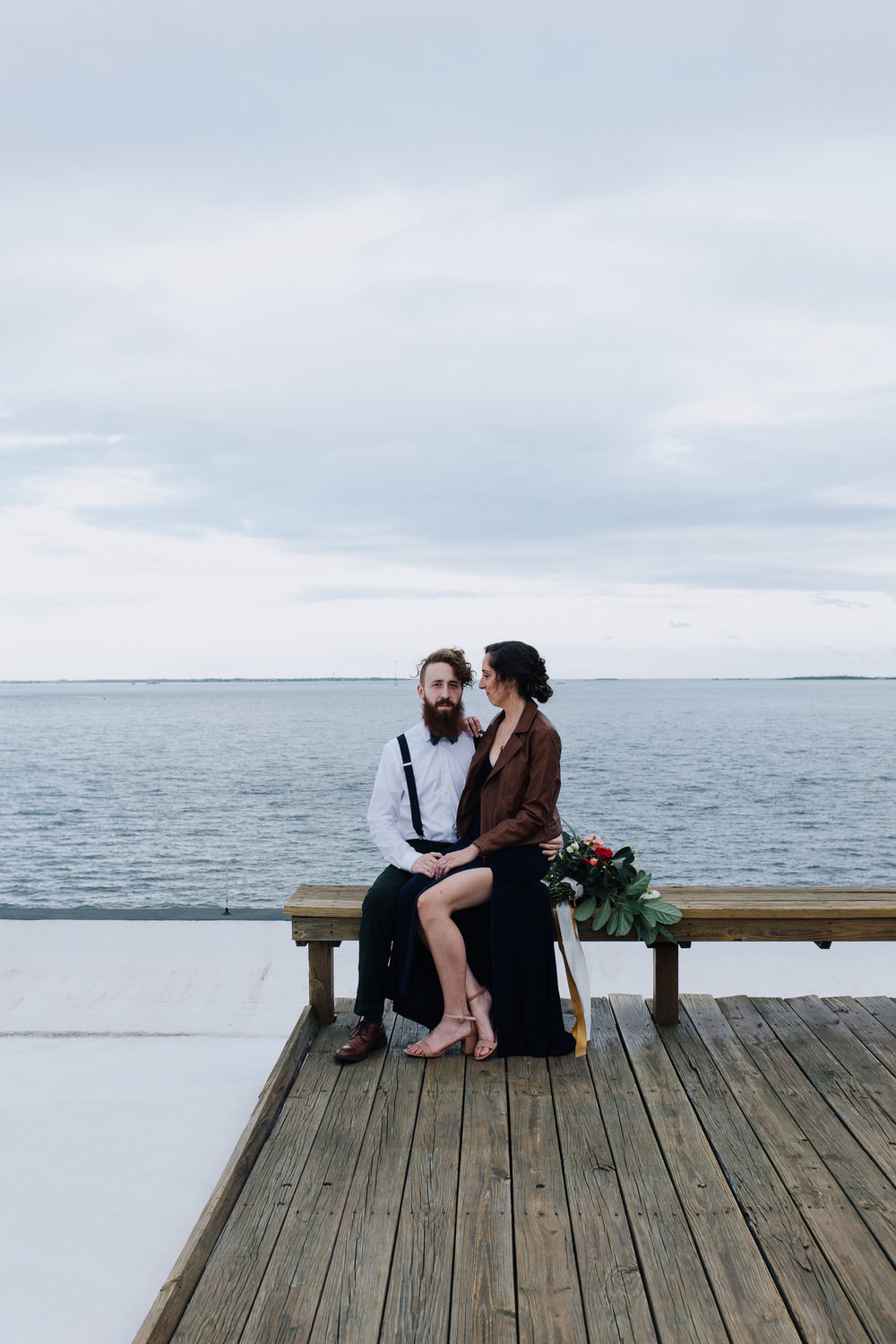 Moody romantic engagement session in Charleston, South Carolina pairs modern and vintage in historic home on The Battery.
