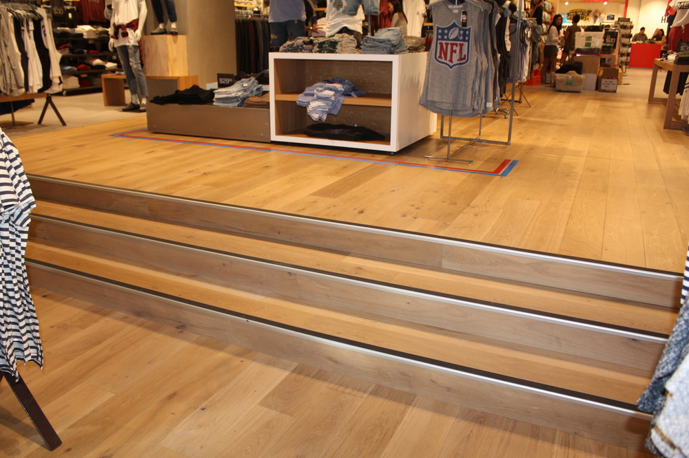 Retail wooden floor