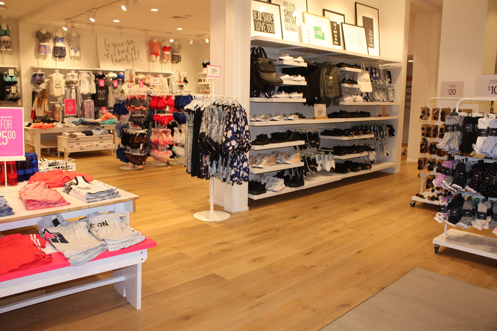 retail display for wooden floor