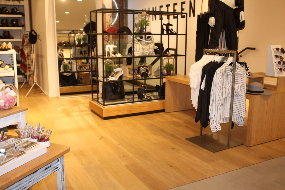 the wooden floor company retail display