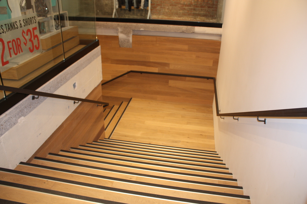 Wooden flooring stairs