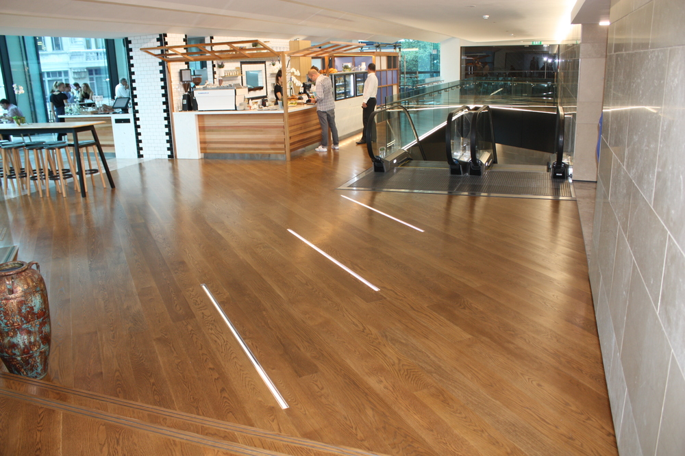 commercial wooden floor