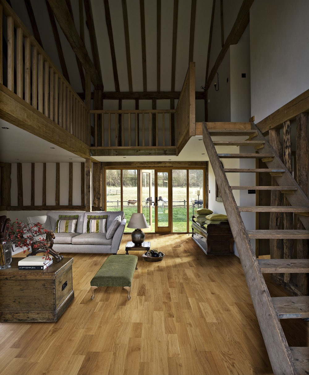 internal staircase and wooden floor