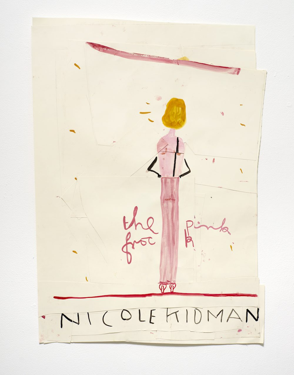 Nicole-Kidman-Pink-Frock-2015-Watercolour-and-Collage-on-Paper-A1-Rose-Wylie-1000x1274.jpg