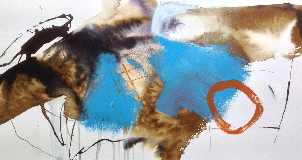 'Sea garden (ii)'Mixed media on paper,45x26cm