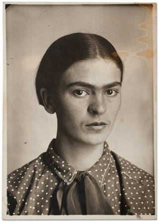 Frida Kahlo, c. 1926. Image courtesy of Museo Frida Kahlo. © Diego Rivera and Frida Kahlo Archives, Banco de México, Fiduciary of the Trust of the Diego Rivera and Frida Kahlo Museums