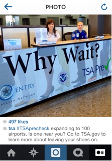 Information and application table for TSA Pre✓™