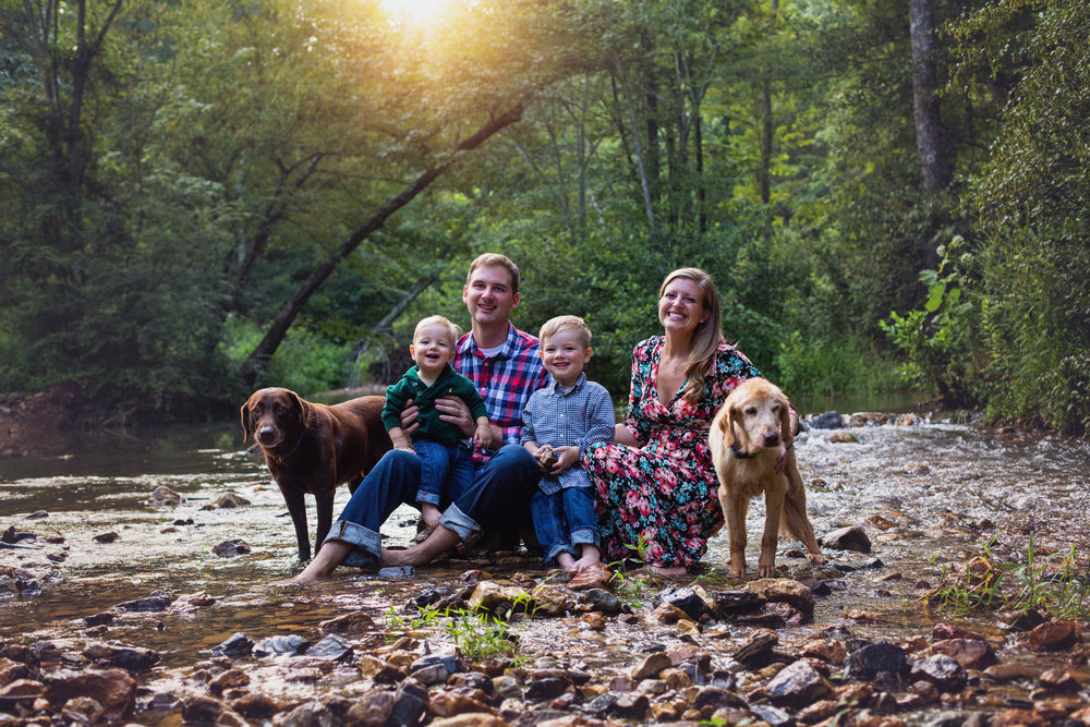 """""""Lindsey was amazing! She did such a great job with our pictures! She made it so easy and was so accommodating with our crazy kids and our dogs! Even when our stubborn 18 month old didn't want to smile, she pulled out all the tricks and got him to smile! We loved working with her!"""" - Brooke Smith"""
