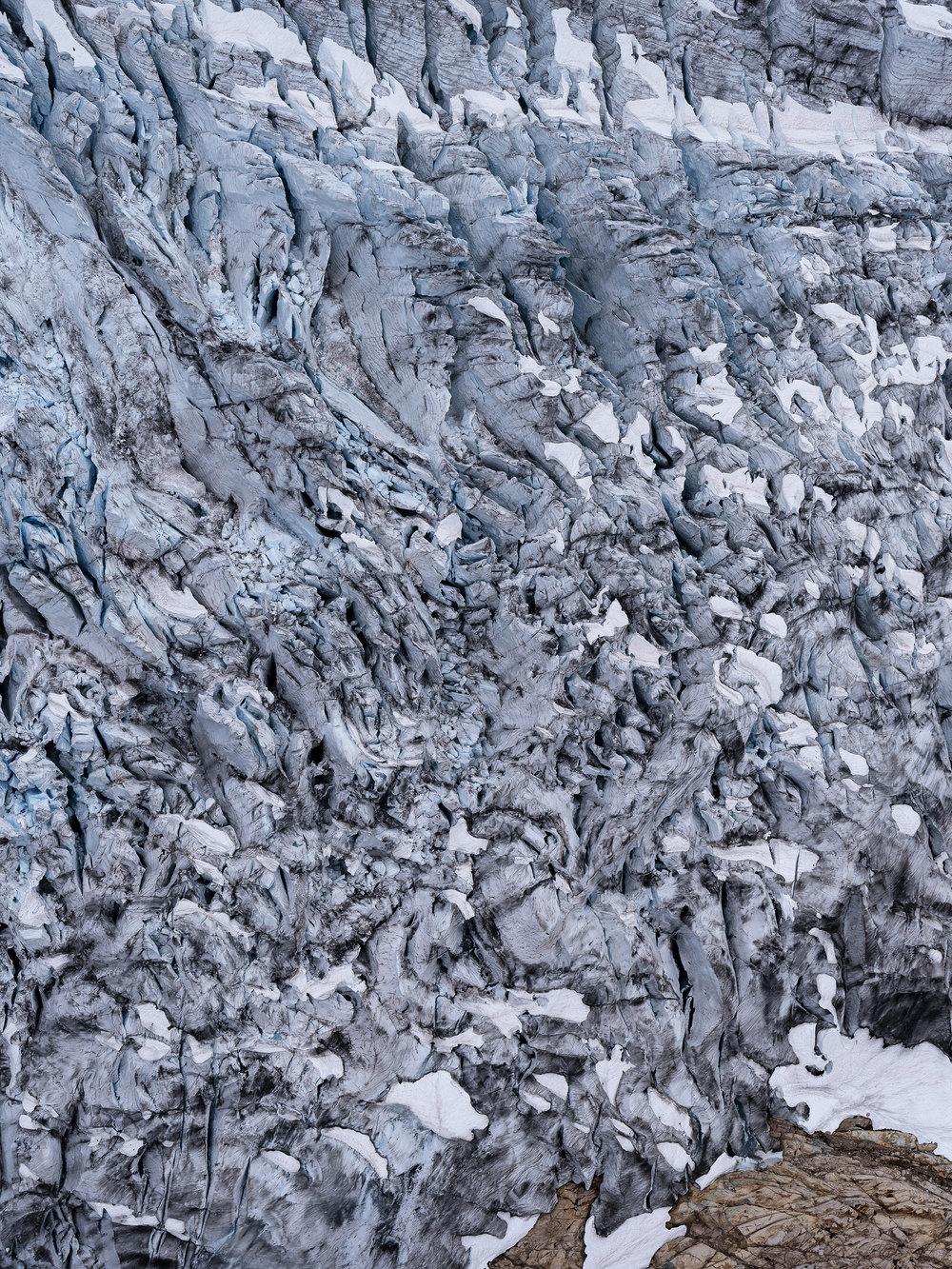 Icefield Study #15   Waterfall (2018)