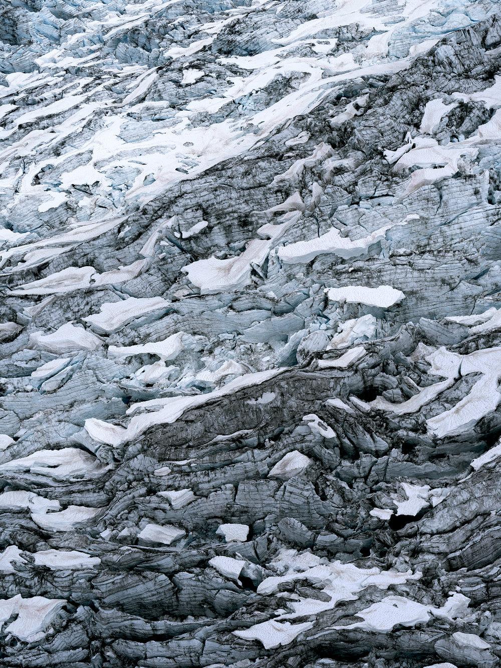 Icefield Study #12   Seafoam on Choppy Water