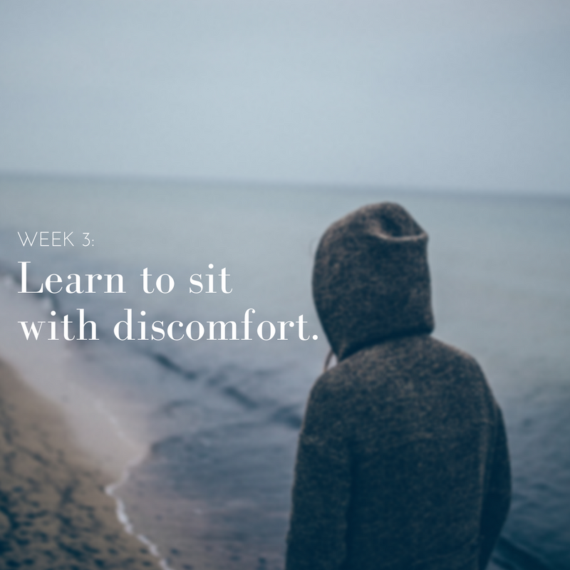 Click here for the meditation on Sitting with Discomfort.