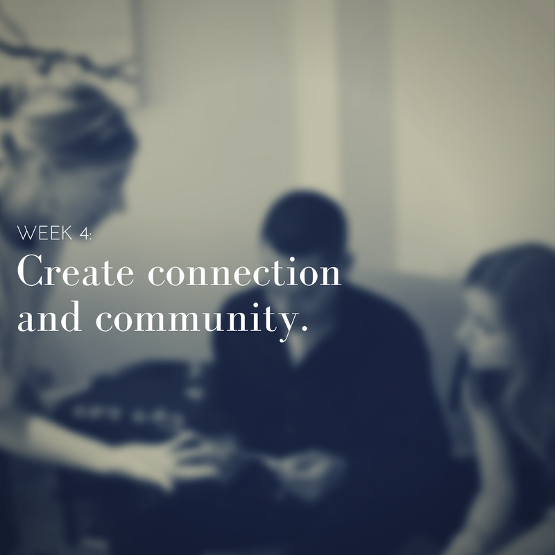 Click here for the meditation on Creating Community.