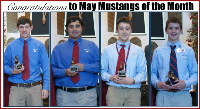 Congratulations To May Mustangs Of The Month Senior Conor Wilson Junior Zachary Schultz