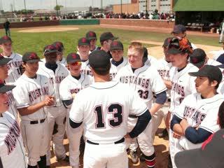 baseball in huddle