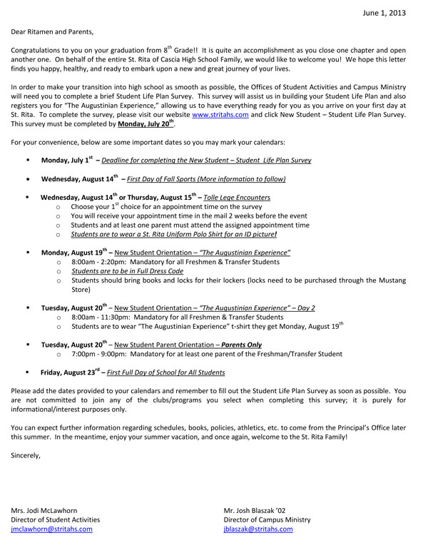 Augustinian Experience Letter for web