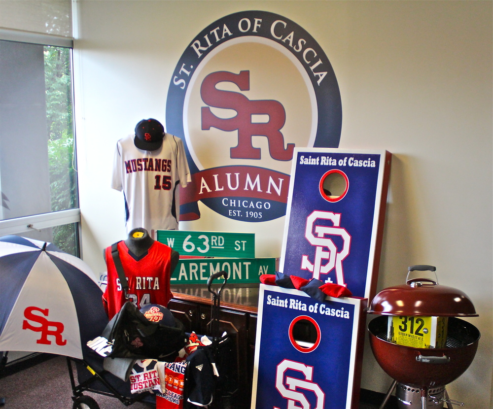 Some of the one-of-a-kind raffle prizes that will be available at the 40th Annual St. Rita Scholarship Golf Outing