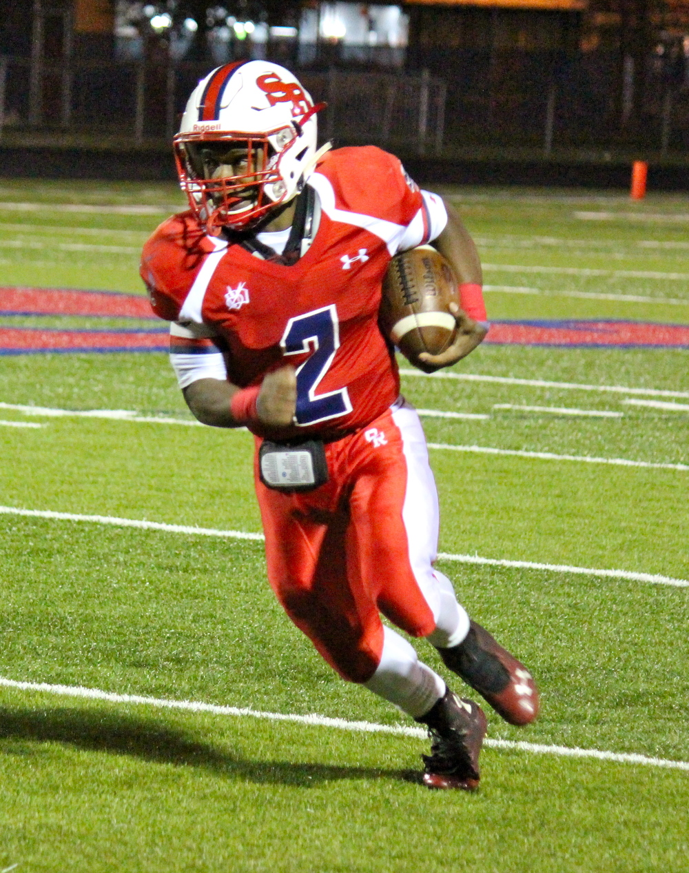 St. Rita running back junior Shaun Rule (#2 Calvin Christian School)