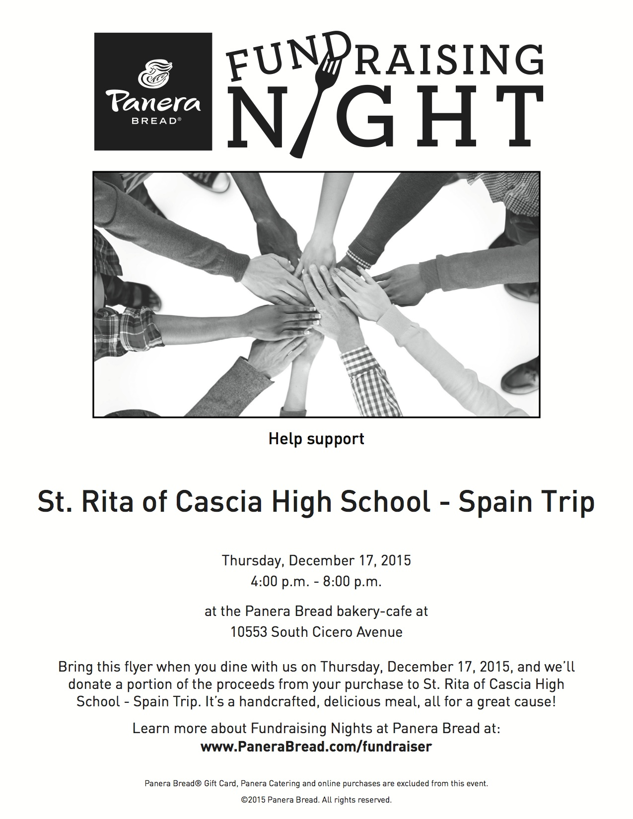 Panera Fundraiser for Spain Spring Break Trip — St. Rita of Cascia ...