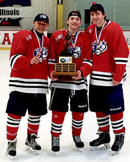 St. Rita Hockey Players: Ryan Lieber, Tom Magnavite and Colan Fitzgerald
