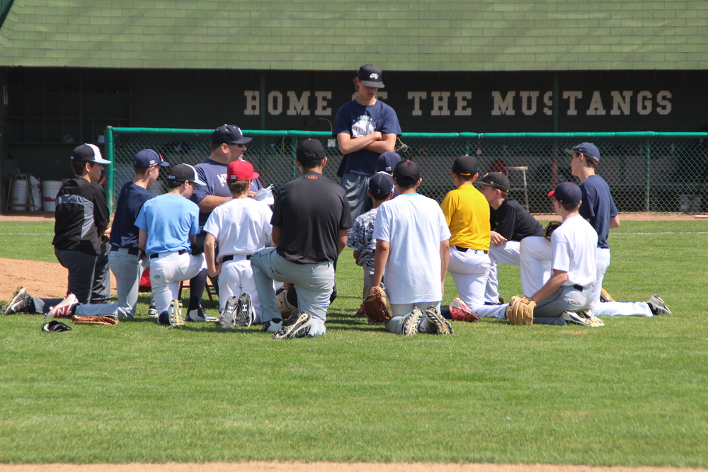Summer Grammar-school baseball camp