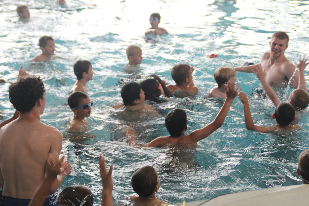 Summer Campers enjoy water polo in the St. Rita pool