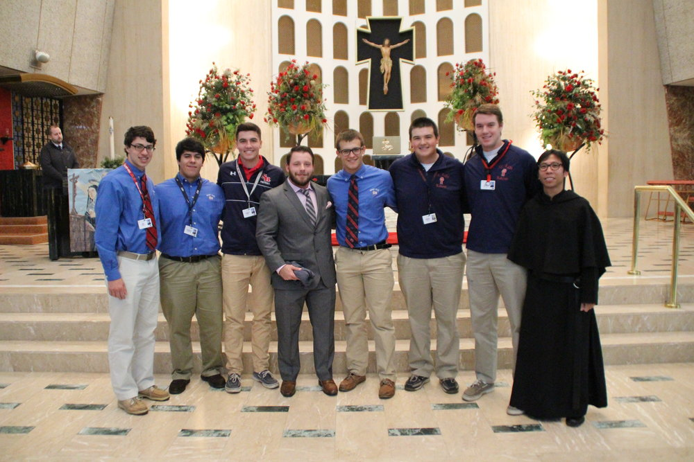 The St. Rita Student Government with Dan McLaughlin '09 and Fr. Richie Mercado, O.S.A.