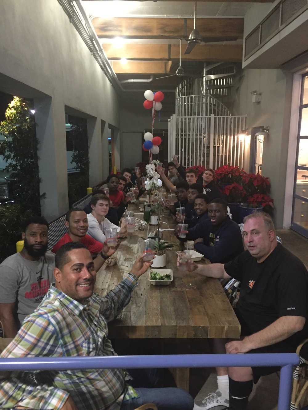St. Rita Basketball team dinner at Ray Allen's restaurant Grown
