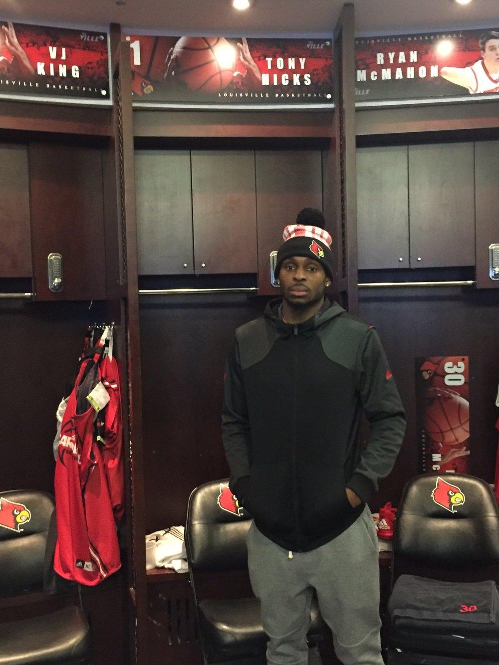 Ritaman and University of Louisville Cardinal Basketball Player Tony Hicks '12