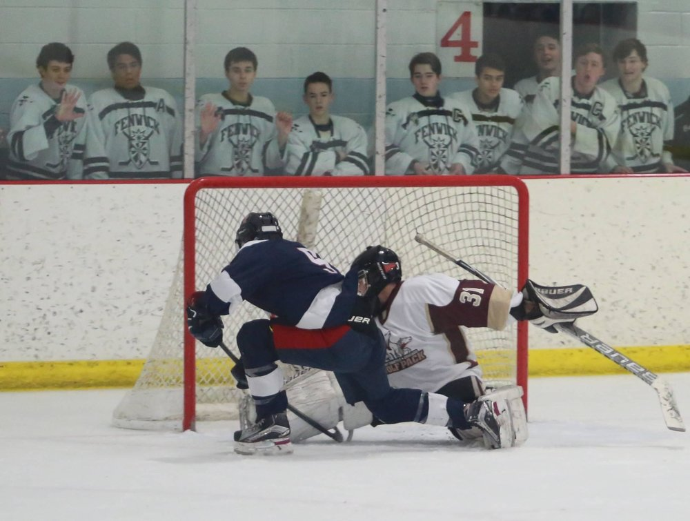 St. Rita Sophomore Connor McGrath scores the game-winning goal in overtime of game 3 of the Kennedy Cup Playoffs vs St. Ignatius.