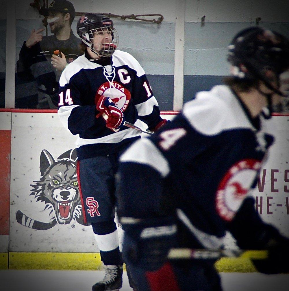 St. Rita Hockey Captain Colan Fitzgerald (#14)