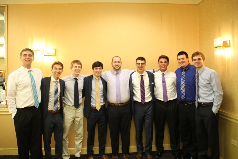 Mr. Josh Blaszak '02 with several academic honorees.