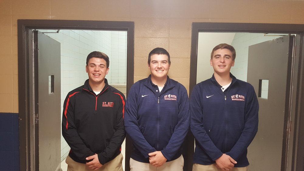 L to R: St. Rita seniors Gary DeCesare, Bobby Gikas and T.J. DeCesare