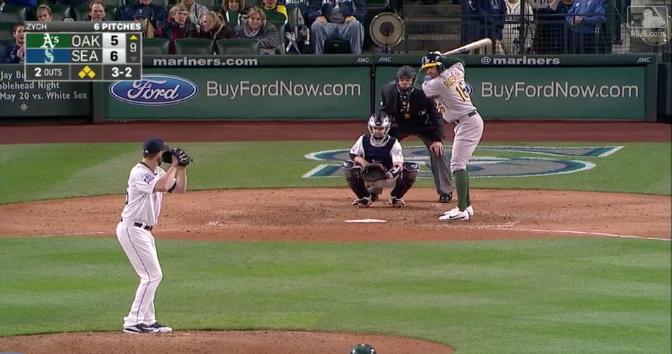 Click the image to watch the video of Tony Zych's first MLB career save.