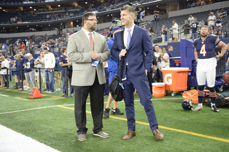 Mark Sadowski, the Bears' director of college scouting, and general manager Ryan Pace. (Chicago Bears)