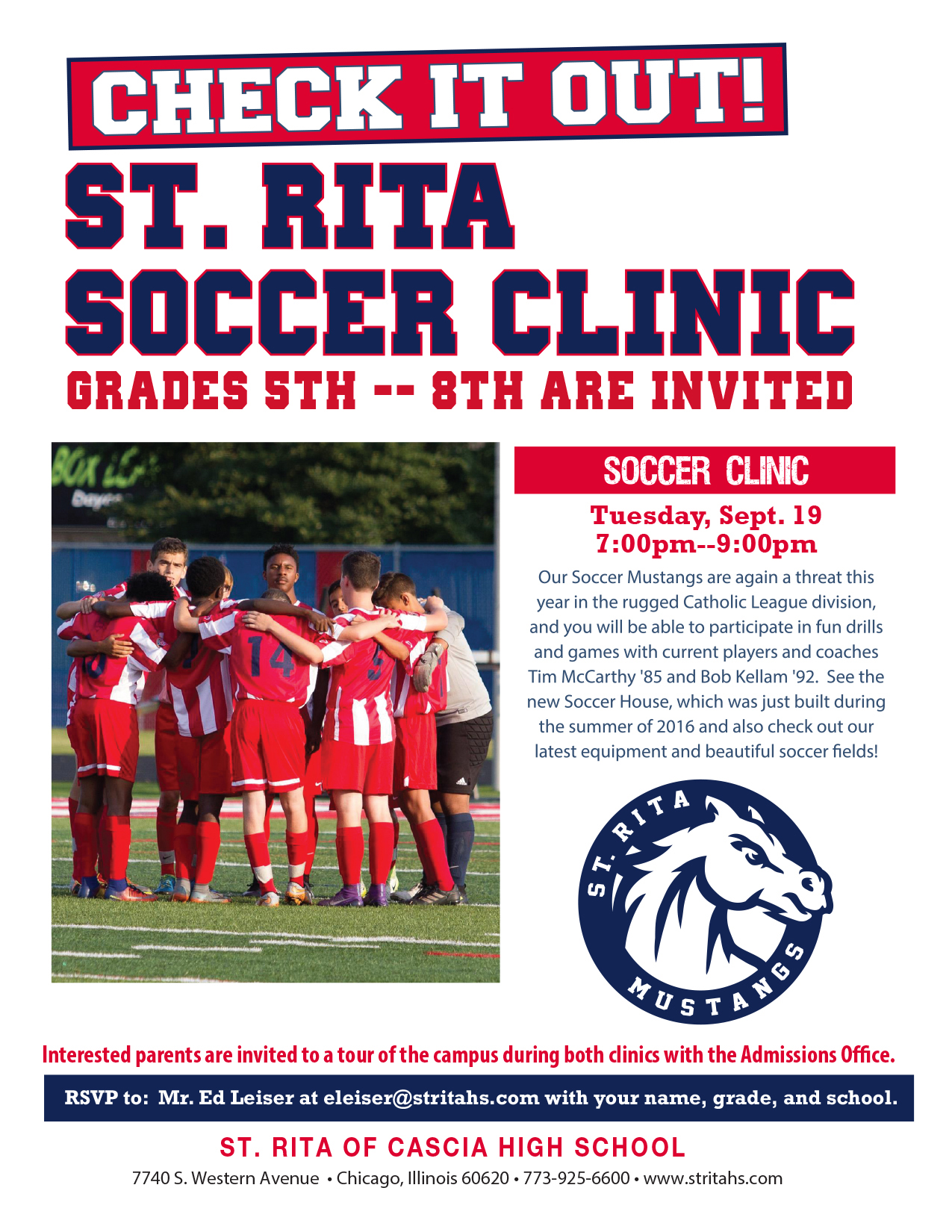 31e872d0d74b Grade School Soccer Clinic — St. Rita of Cascia High School