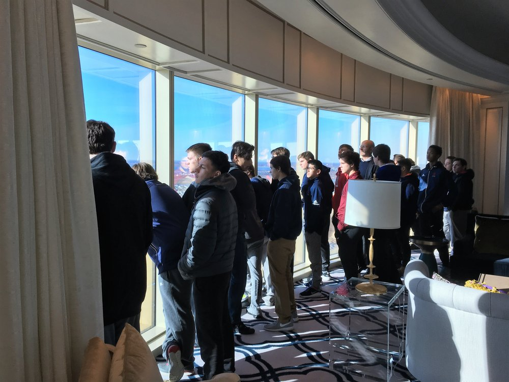 Joe Corbo, Chief Legal Counsel for the Borgata Casino, takes the students to see the rooms that the casino reserves for high rollers. The Borgata Casino is located in Atlantic City, NJ.