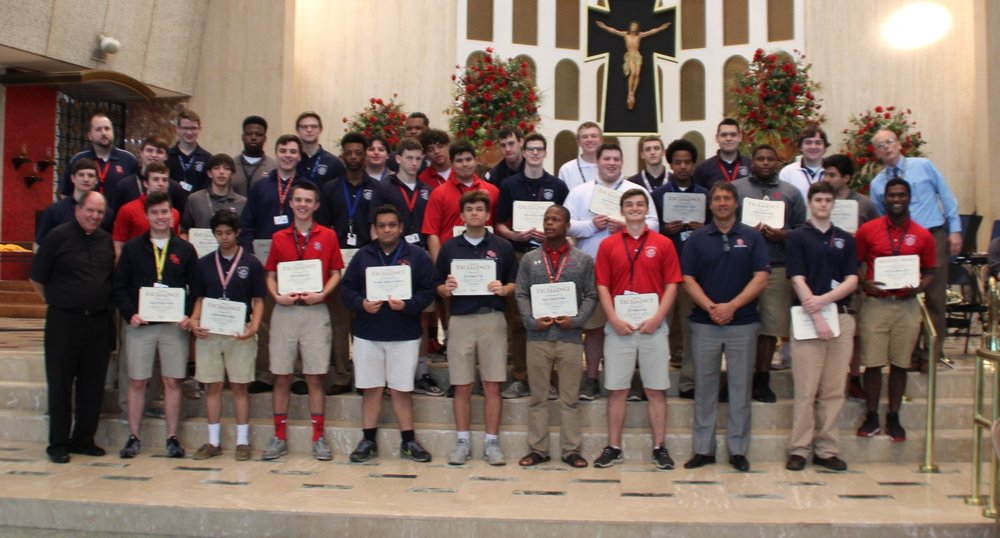 Students were honored for exceptional performance, dedication and leadership as a member of a St. Rita of Cascia High School club or activity during their high school career.