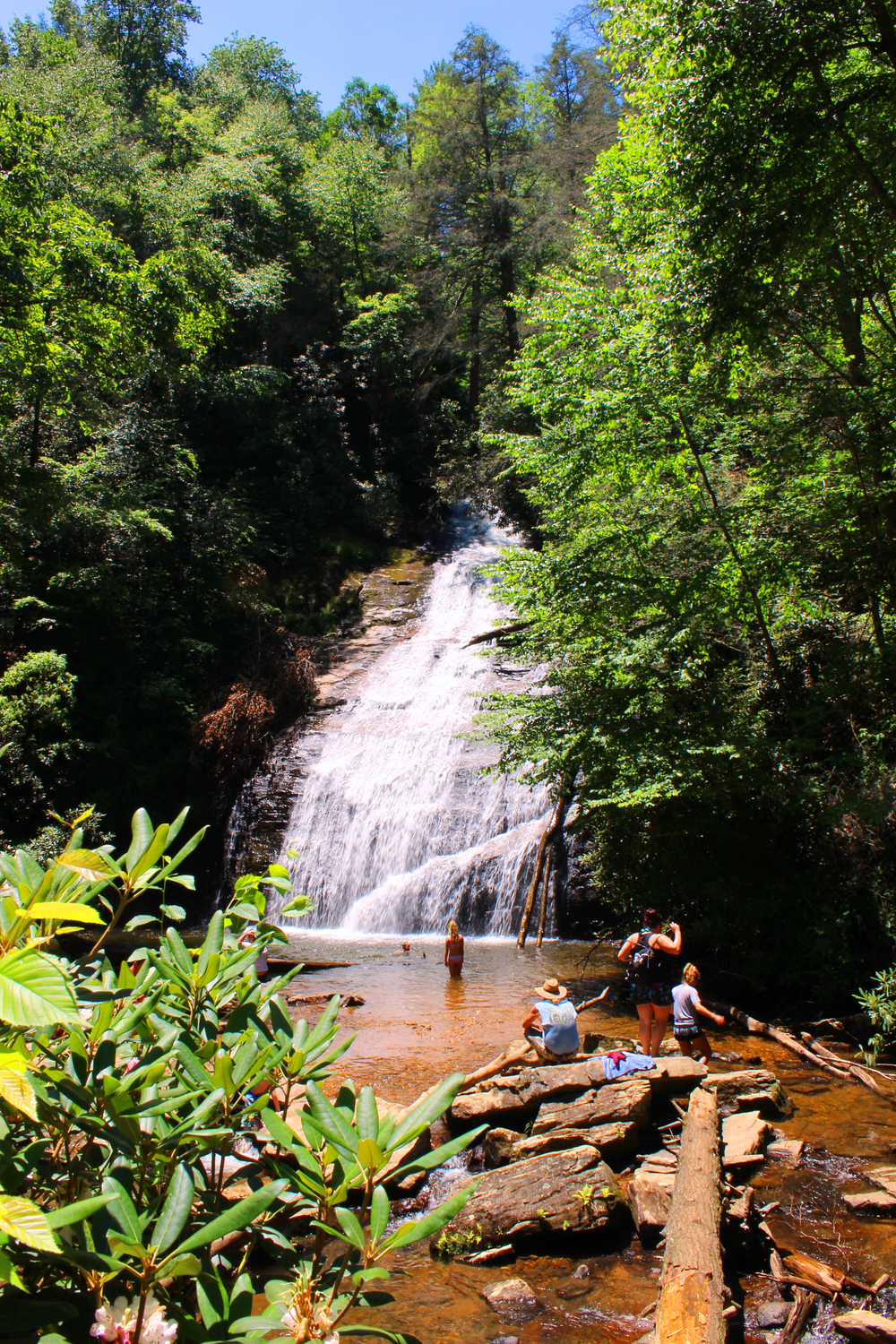 Helton Creek Falls swimming hole