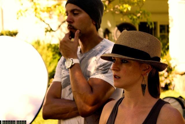 The beautiful director hard at work - Sara Lohman!