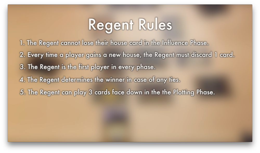 Regent Rules