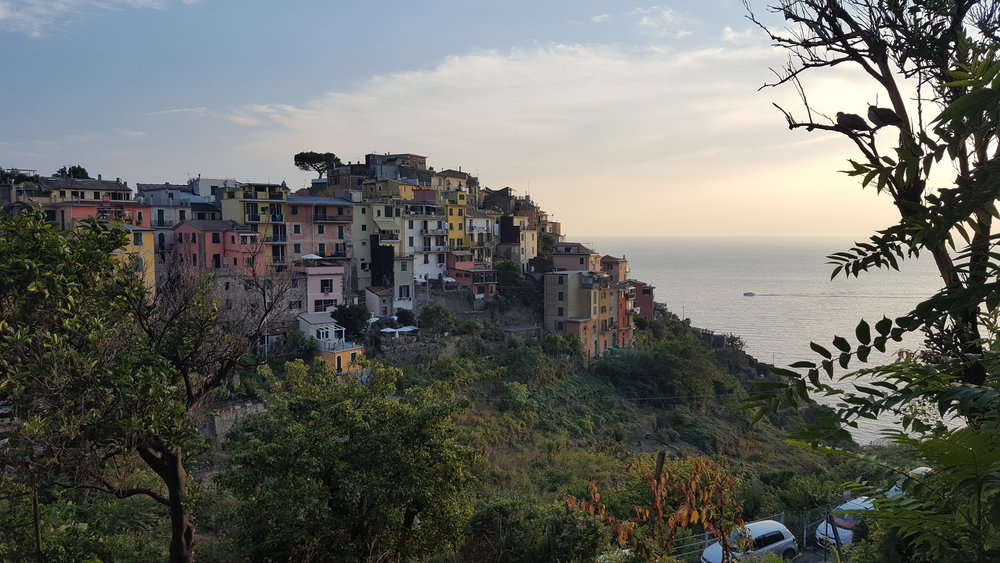 The village of Corniglia, one of the 5 (cinque in Italian) 'terres' of Cinque Terre.
