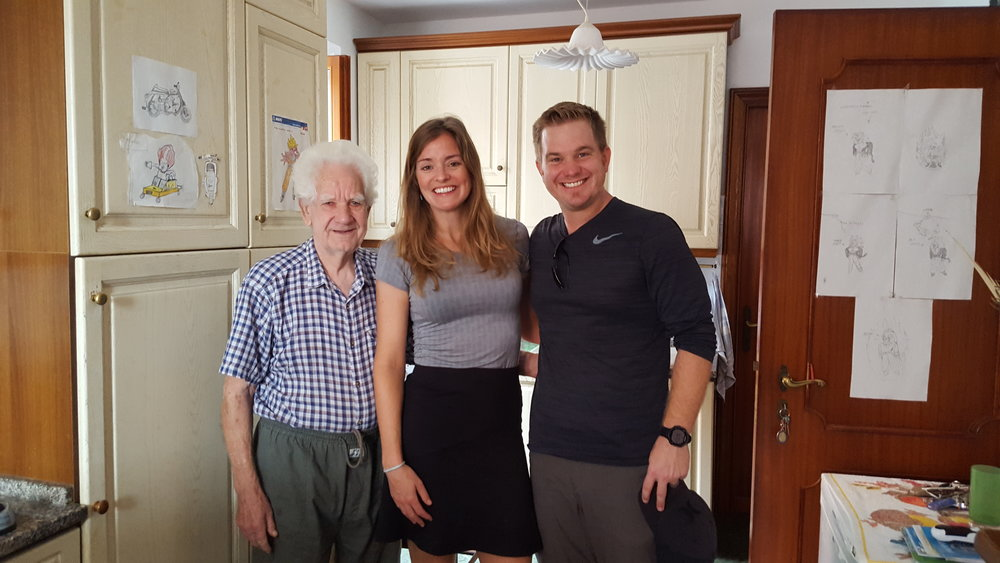 With our airbnb host, Beppe, who made us breakfast every morning and treated us like royalty.