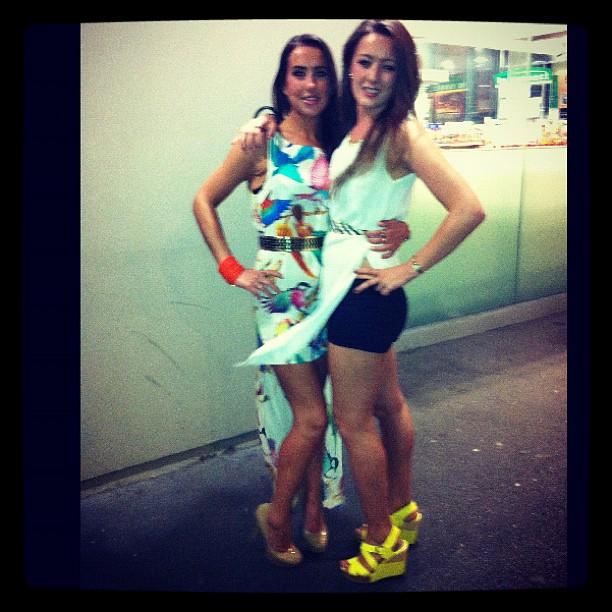 My girl @corkie88 eockin' the white party getup!